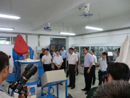 安阳市委书记李公乐一行莅临吉姆克能源生物质实验室视察指导